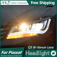AKD Car Styling for Passat B7 LED Headlights VW Passat CC 2012-2015 LED Head Lamp Projector Bi Xenon Hid H7