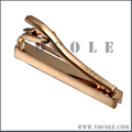 Customized Rose Gold Stainless Steel Spring Tie Clip for Men