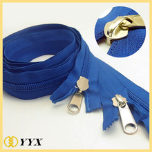 Heavy duty garment accessories #8 reverse long chain nylon zipper
