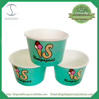 200ml &380ml biodegradable paper printed cups for icecream