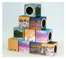 OEM factory fold up cardboard speaker/present cardboard speaker/give away cardboard speaker