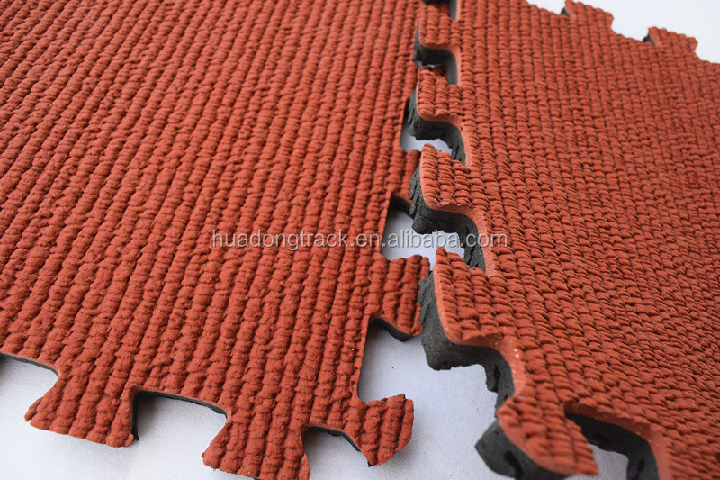 Interlocking rubber floor tiles, playground safety mat surface