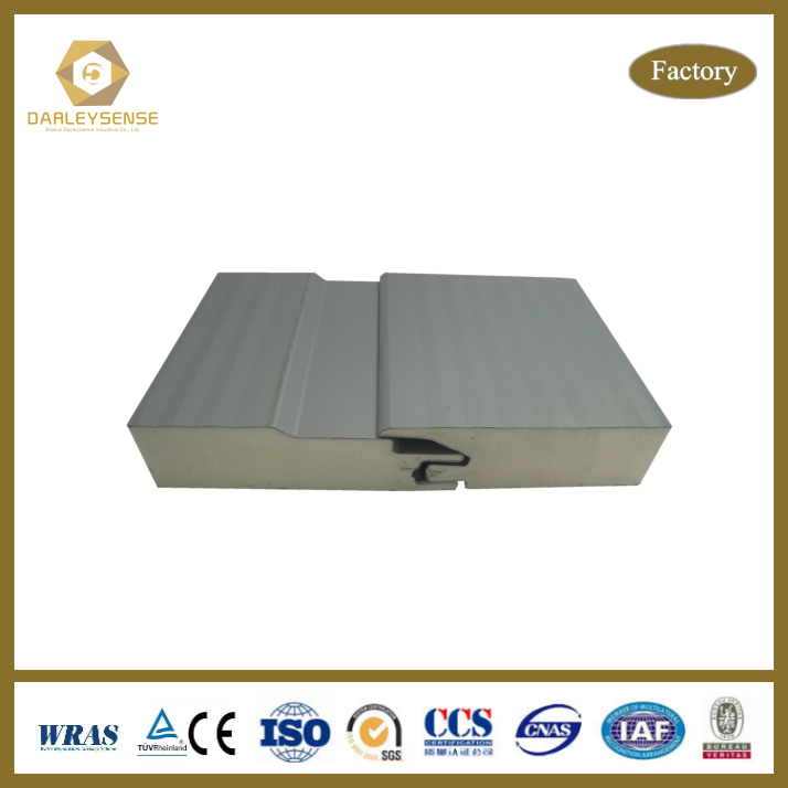 Soundproof 150mm pu/polyurethane sandwich panels Made in China