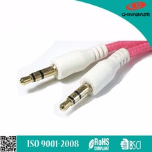 Flat/Round 3.5 mm stereo AUX cable 3.5mm audio cable male to male