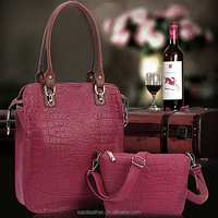 E1391 handbags made in india top selling in Africa crocodile skin hand bag