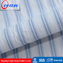 2014 hot design fabric cotton blue and white striped