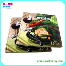 Top company food book printing price list printed cook book recipe book publishing