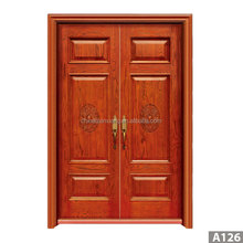 Durable ageing-resistant sound proof double exterior mdf wood door skin