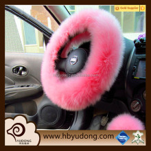 Sheepskin steering wheel cover long wool sheepskin car wheel cover