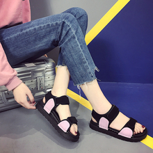 In Stock Strap Flat Sandals for Women Summer Flat Plarform Shoes
