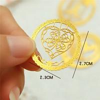 Mingfengxing chinese folk gold customized metal bookmark