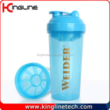 custom wholesale No leaking 700ml sports protein shaker bottle, fitness bottle, gym water bottle with blender