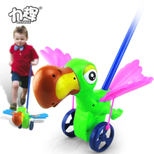 Happy woodpecker birds push electrical animal toy car toys for kids with wing and tail