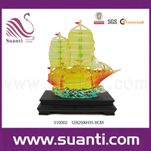 Resin lucky sailing ship model decoration