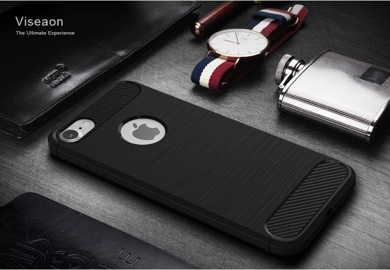 Wholesale Mobile Phone Accessory For iPhone 7 Plus Case, High Quality TPU Carbon Fiber Phone Case For iPhone 7 Plus