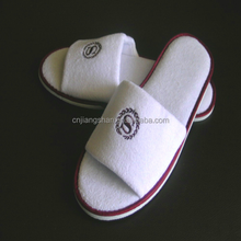 Five star grade open toe hotel bedroom slippers