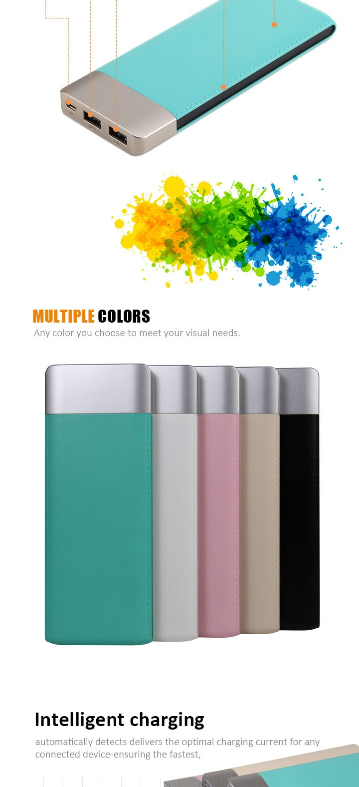 Promotion Christmas Gift Intelligent Fast Charging 6000Mah Power Bank,Mini Portable Mobile Smart Phone 9000Mah Power Banks