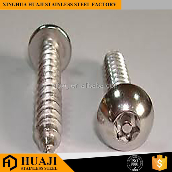 stainless steel torx countersunk head security screws