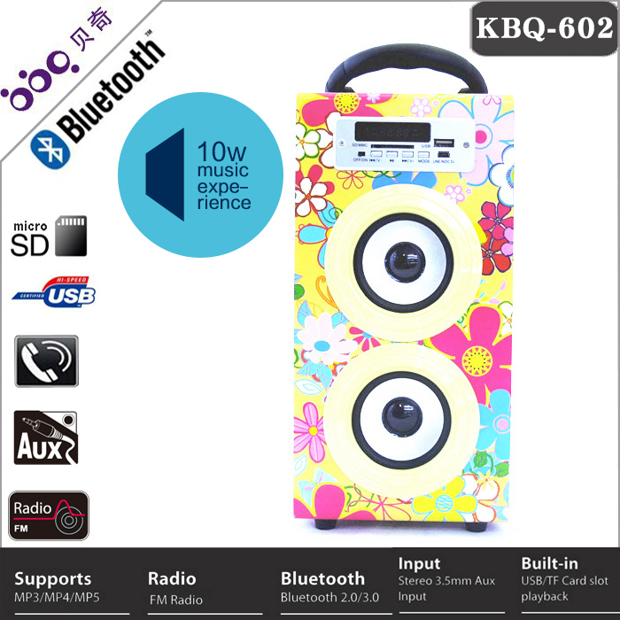 Portable speaker support usb flash drive fm radio