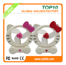 Popular animal usb fan cartoon kitty usb fan
