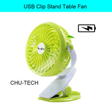 Yoosion Rechargeable Battery Fan USB Silent 4 Blades Desk Mini Portable Air Cooling Blower Portable USB Clip Stand Table Fan