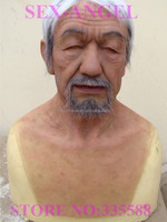 Free shipping asian Old men Grandpa silicone real human mask