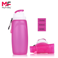 Portable non-toxic collapsible bpa free silicone aqua water bottle