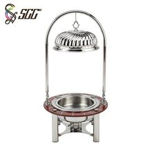 High quality stainless steel cheap price decorative fancy chafing dish with metal lid
