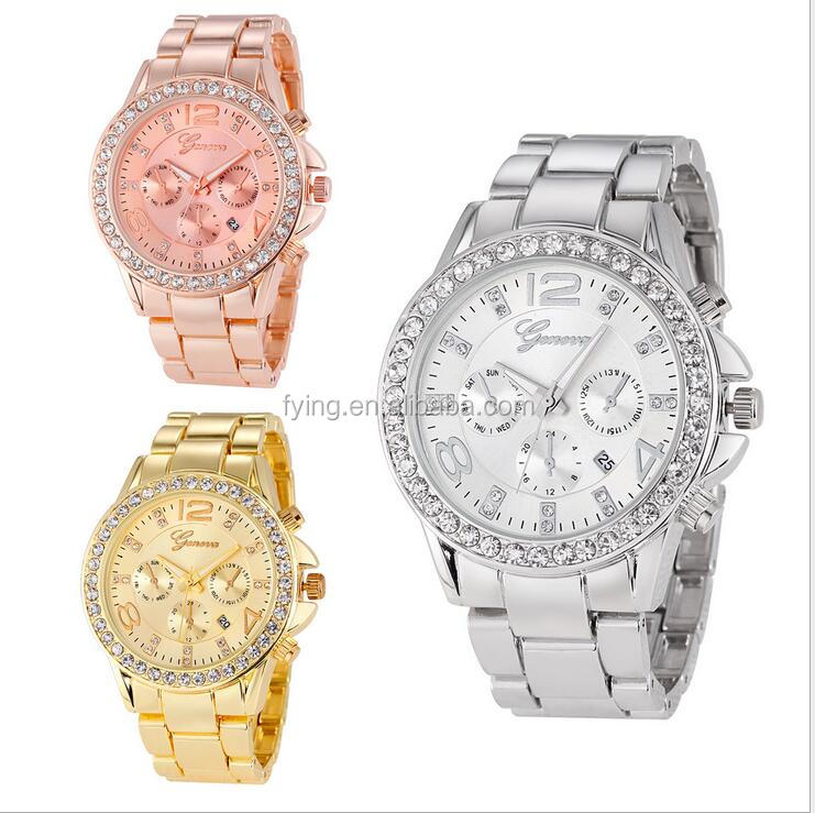 geneva watch price waterproof vogue Quartz Watch wholesale