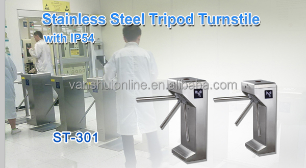 RFID Card Reader Waist Height Tripod Turnstile Access Control System