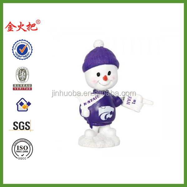 KSU Resin Snowman Bobble Head