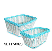 Cheap Giant Basket Rectangle Woven Bread Baskets Food Serving Baskets