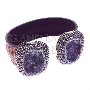 925 Sterling Silver Bracelet Bangle Gold 14kHandmade Turkish Druzy Designer Jewelry Earring Necklace Pendant Bracelets