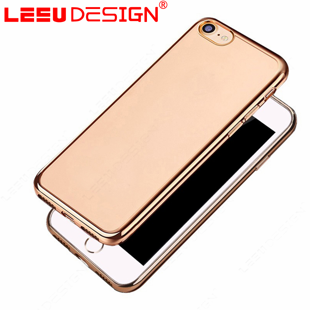 New products crystal clear soft custom electroplating tpu luxury mobile phone case for iphone 7
