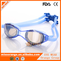 Logo Advertising swimming goggles anti fog sport sunglass manufacturer