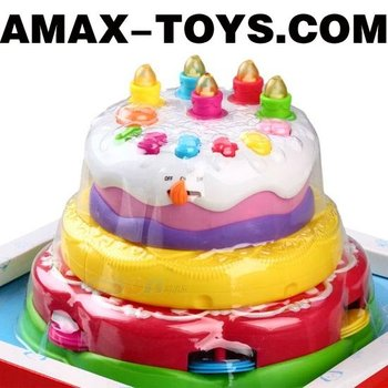 ht-017303 Toys cake Kids multifunctional music toys birthday cake (can record)