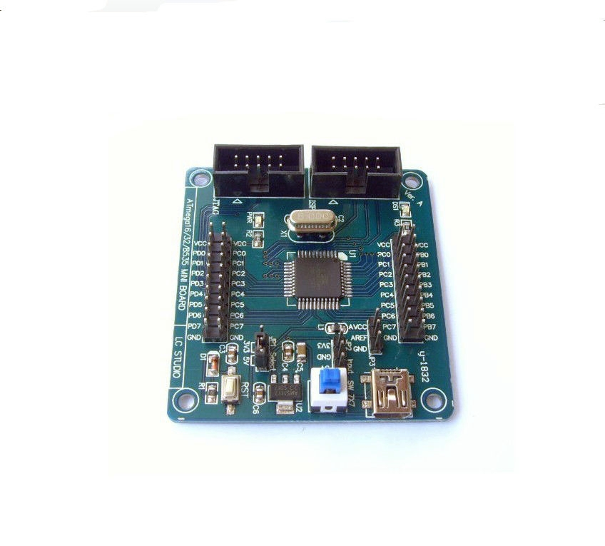 Lillyelectronics ISP and JTAG Interface development board AVR core board the ATmega324 learn with