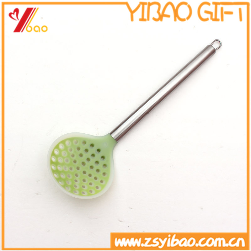 Eco-friendly Stainless Steel handle spoon/Silicone filter spoon