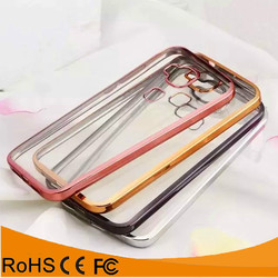 Best selling products transparent electroplating mobile phone silicon case for Huawei Ascend 4