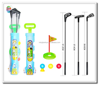 2016 Promotion golf set for kids steel toy golf set