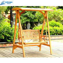 Outdoor garden wooden hanging chair swing set for adults