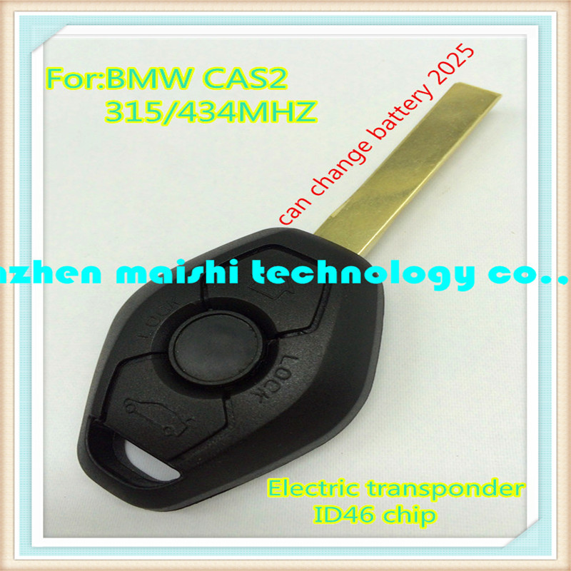 best quality car key for bmw cas2 3button remote key315mhz/434mhz with electric transponder chip ID46 for bmw 3 5series x5 x3 Z4