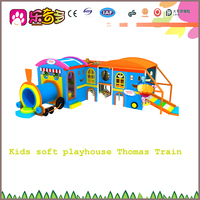 Children plastic play house and indoor soft play house