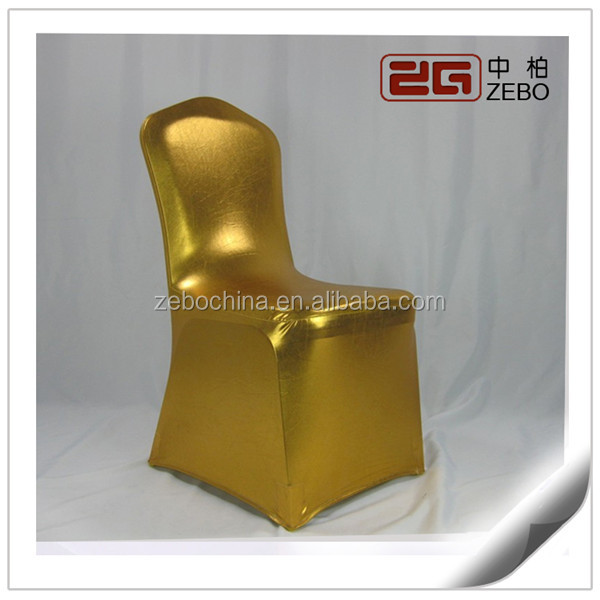 Super Quality Factory Directly Sale Gold Spandex Chair Covers