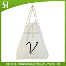 wholesales promotion cheap recycled custom promotion cotton canvas shopping drawstring cotton bag