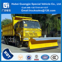 road snow sweeper DongFeng tianjin 4X2 truck mounted snow blowers snow removal vehicles