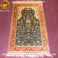 2.5x4 prayer rugs wih various color made by chinese proffessional girls soft and warm pure silk rugs