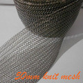 50mm Monel knitted wire mesh for shielding