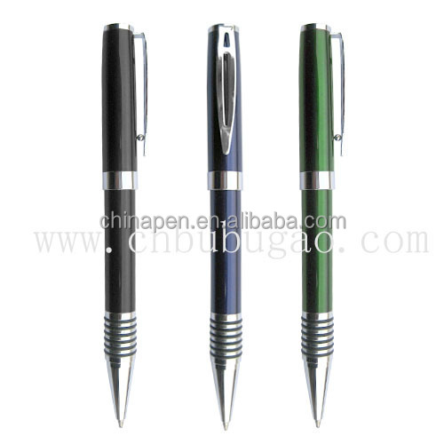 OEM luxury office use luxury gift metal pen/high quality metal pen with laser printing