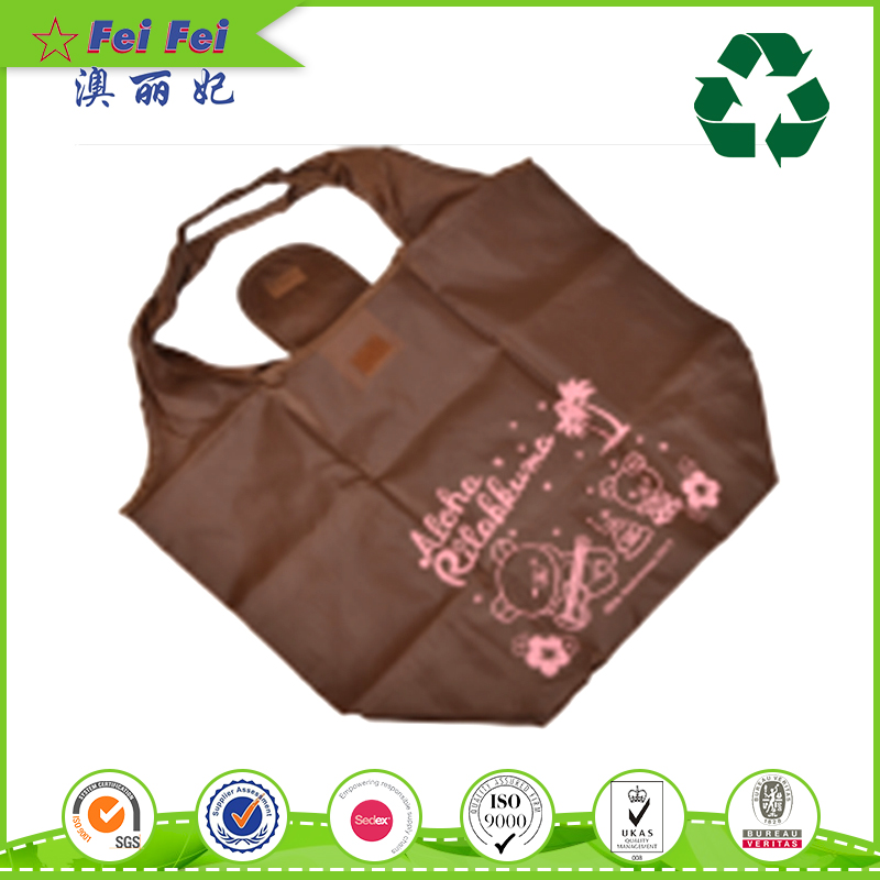 New Design Fashion Low Price polyester foldable shopping bag